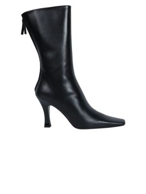 Black Leather Office Boot
