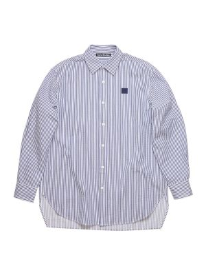 White And Blue Striped Shirt