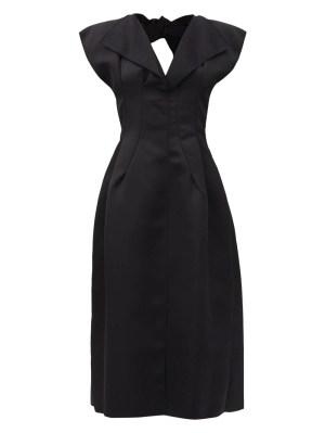Black Double Satin Dress