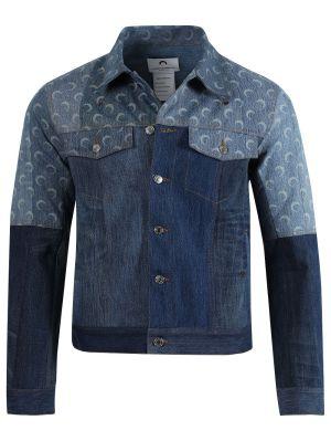 Regenerated Denim Moon Print Boxy Jacket