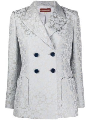 Wool Blend Double-breasted Blazer
