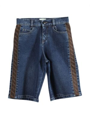 Kids Denim Bermuda Logo Denim Shorts