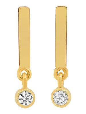 Studs With Diamond Mini Bezel Drop