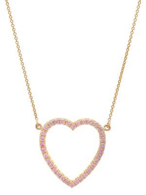 Sapphire Open Heart Necklace