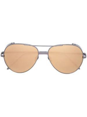 Silver And Gold-tone Aviator Sunglasses