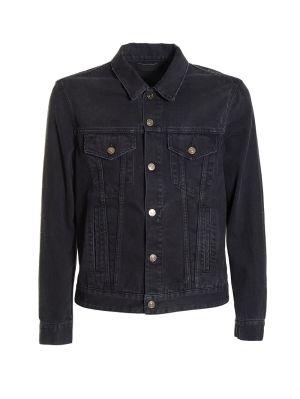 Black Embroidered Bandana Denim Jacket