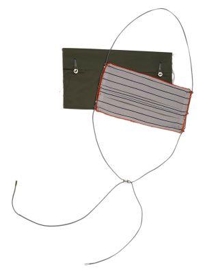 Reversible Cotton Face Mask, Black Stripe & Grey