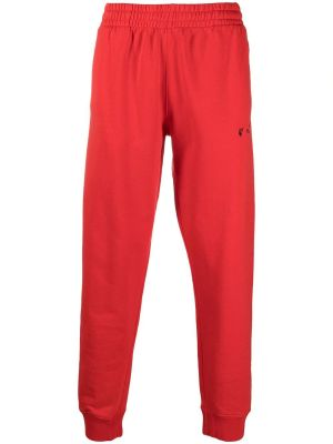 Ow Logo Cuffed Sweatpant, Fiery Red