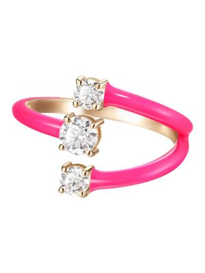 Pink Small Aria Moon Ring