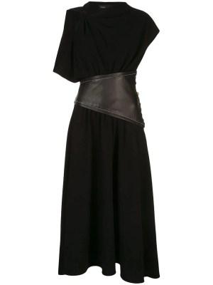 Black Asymmetric Sleeve Dress