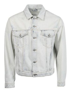 Bleach-wash Denim Jacket