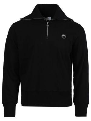 Optic Moon High-neck Sweater, Black