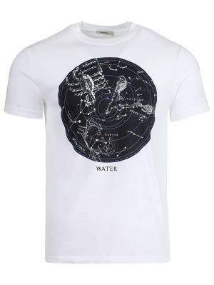 Cosmos Print T-shirt, White
