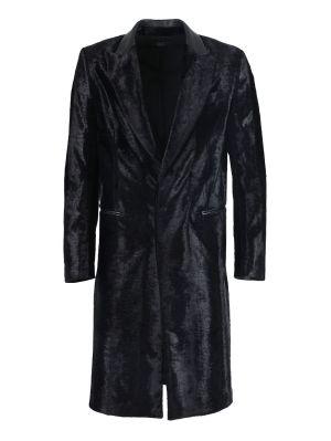 Black Embossed Astrakhan Long Coat