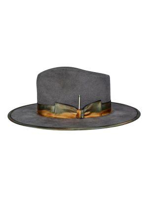 Granite Medianoche Wide-brim Fedora Hat