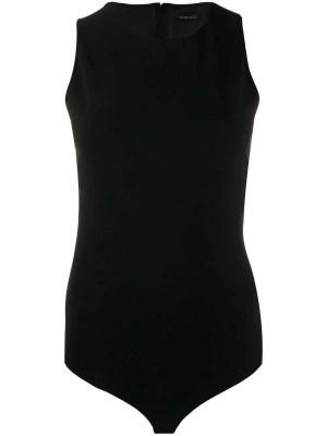 Greek Key Chain Bodysuit Black