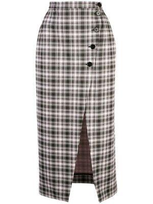 High-waist Plaid Skirt