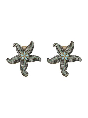 Opal & Turquoise Starfish Earrings