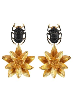 Pharaoh Lotus Earrings