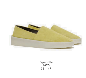 Yellow Suede Espadrille
