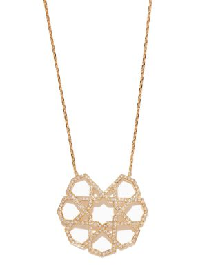 Arabesque Deco Diamond Pendant
