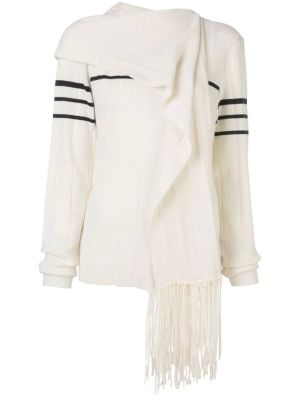 Fringe Scarf Knitted Sweater