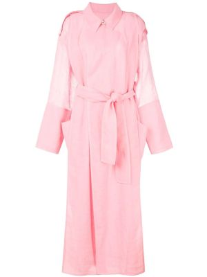 Pink Belted Trench Coat