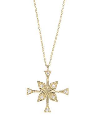 Compass Diamond Necklace