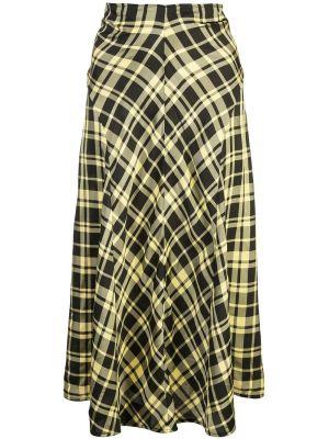 Ruched Plaid Skirt