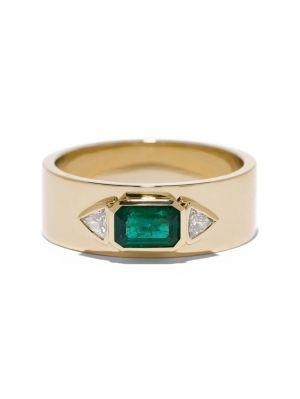 Emerald Nesw Diamond Ring