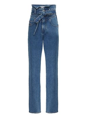 High-waisted Paper Bag Denim Jeans