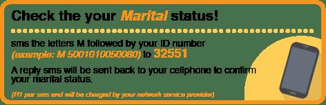 Check your Marital Status