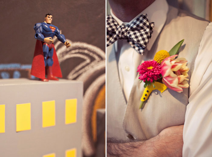 Superhero-themed wedding. Jagger Photography. www.theweddingnotebook.com