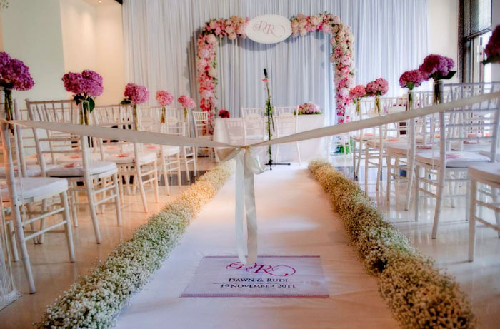 Flowers and decor by Wishing Tree. The Club at the Saujana, Kuala Lumpur