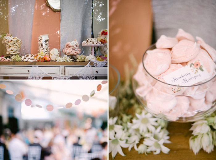 Peach colour wedding décor. Tealily Photography. www.theweddingnotebook.com