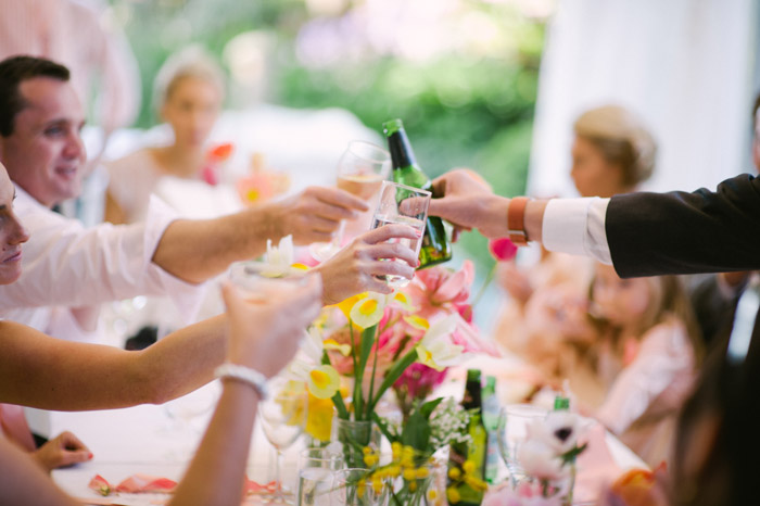 Outdoor lunch reception. Tealily Photography. www.theweddingnotebook.comn