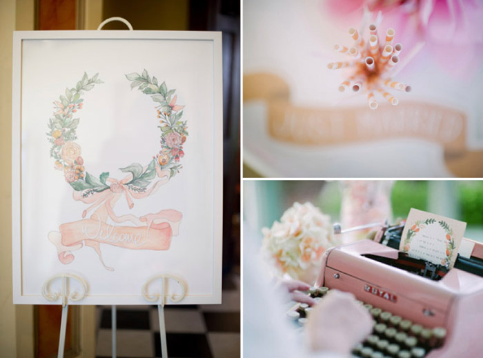 Welcome sign and notes from guests. Tealily Photography. www.theweddingnotebook.com