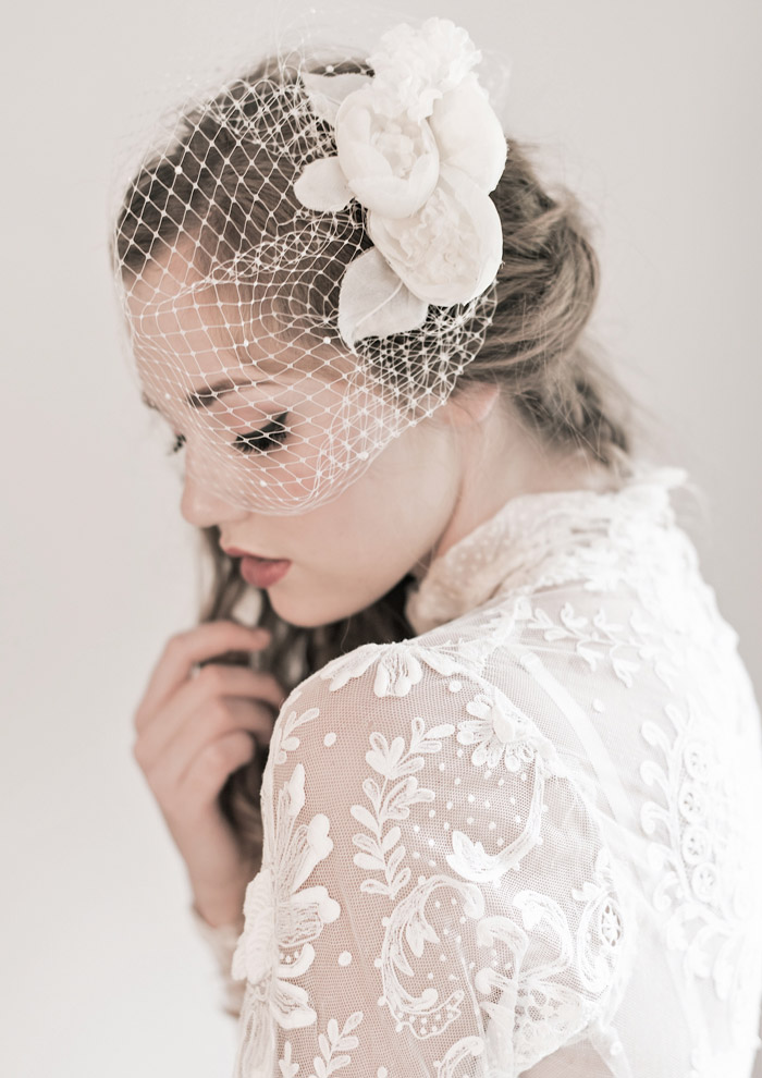 'Peony Veil' Enchanted Atelier Fall Winter 2013 Collection. www.theweddingnotebook.com