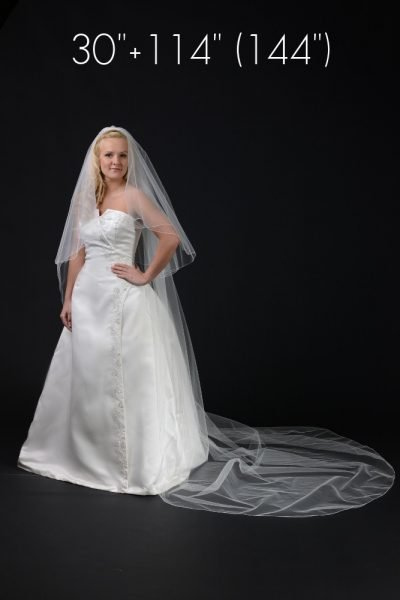 2 layer cathedral length veil