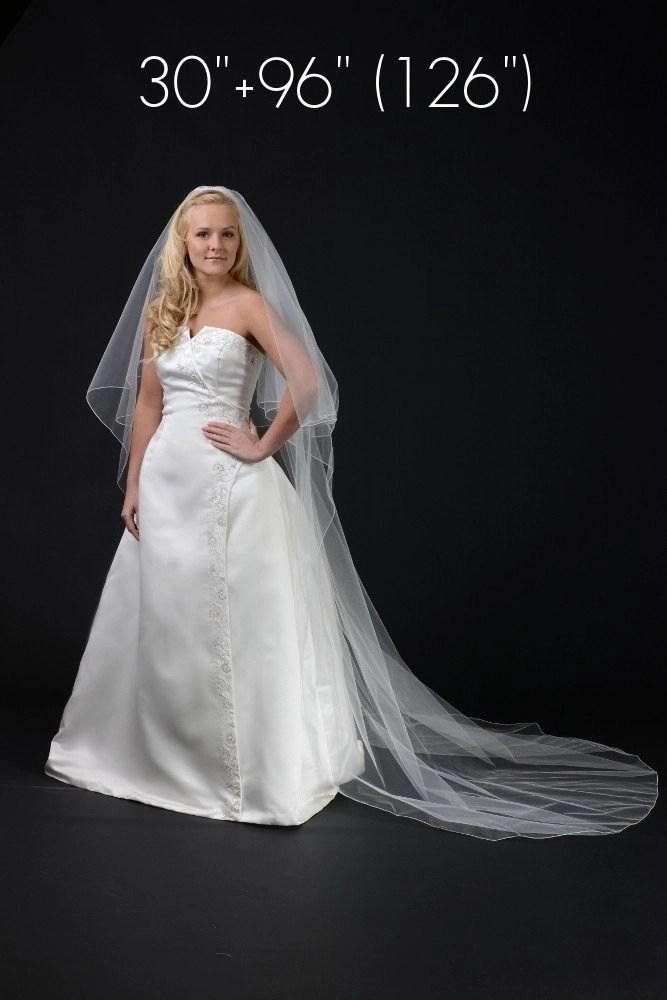 wedding veil length guide 2 layer chapel