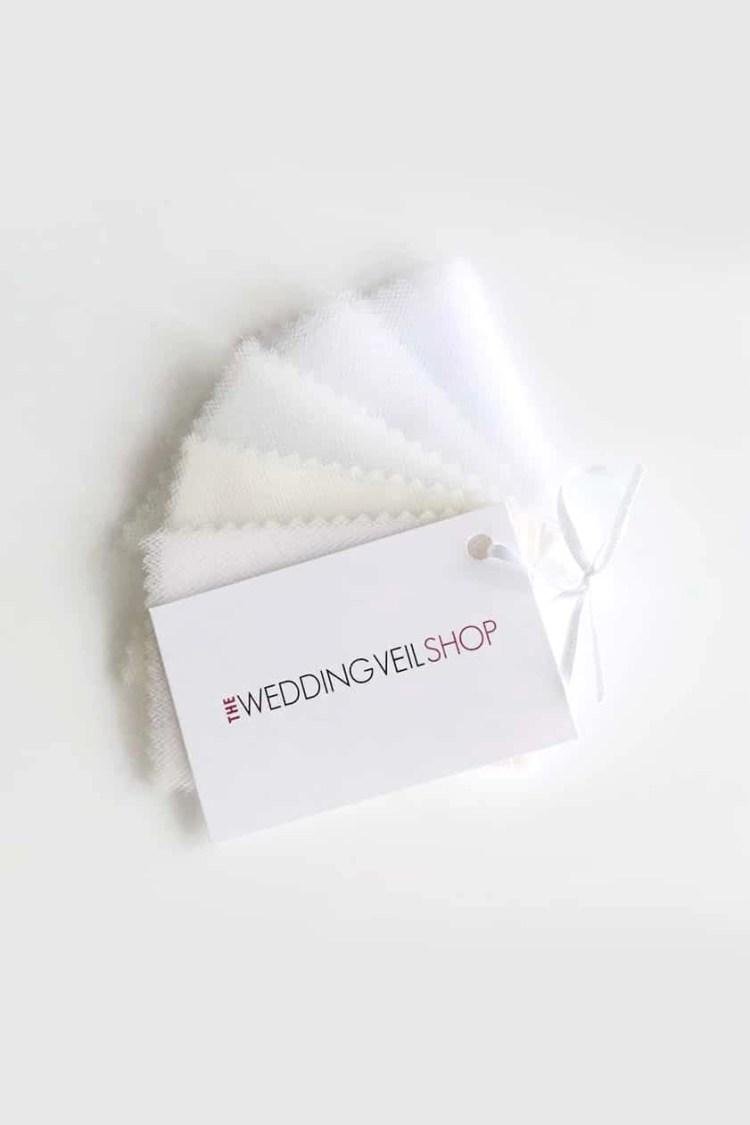 samples of veiling tulle for wedding veils
