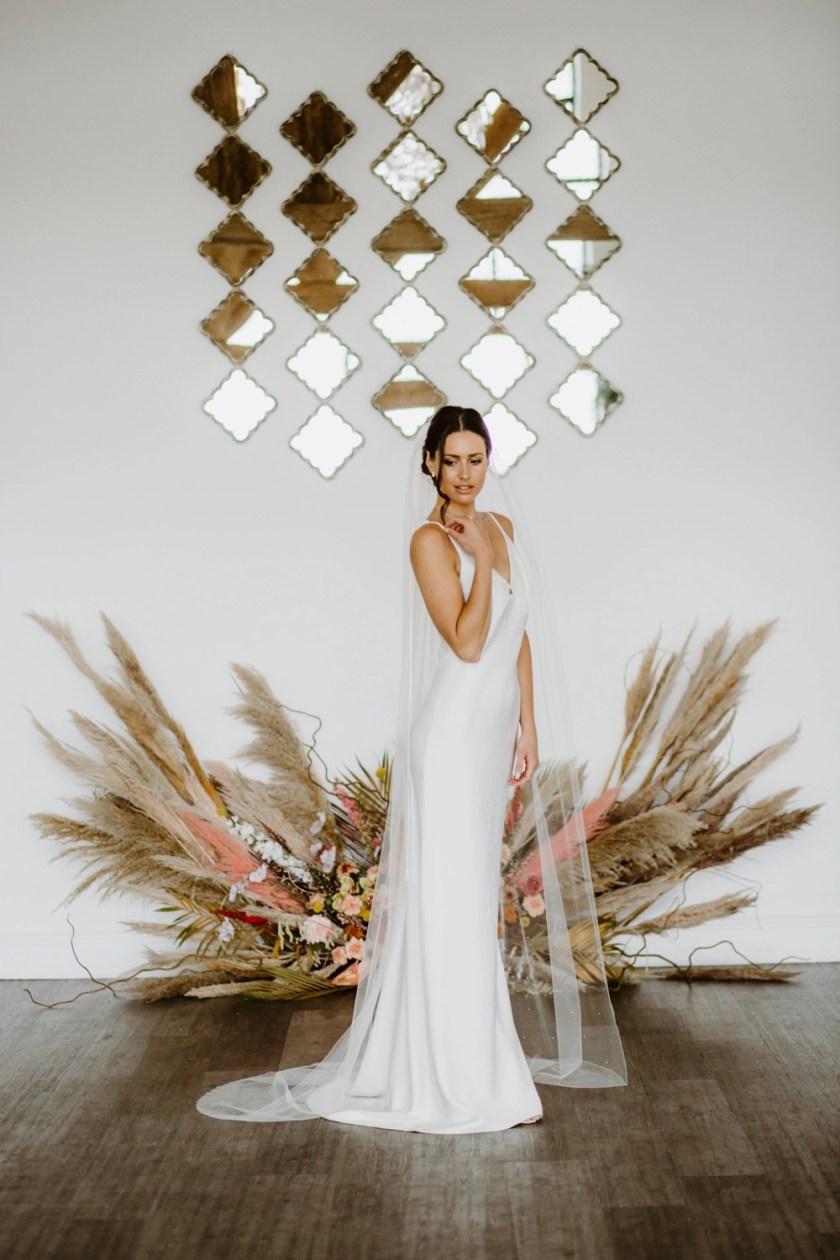 Carina - chapel length wedding veil with diamantes