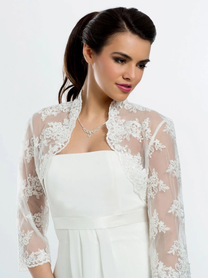 BB106 lace bridal bolero