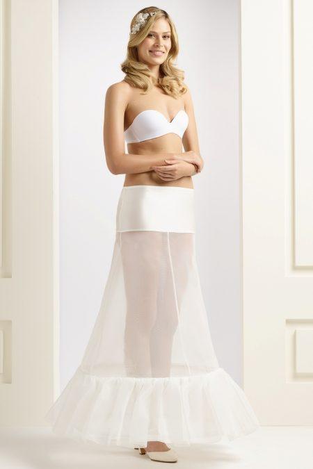 H1-190 BP1-190 A line bridal underskirt (1)