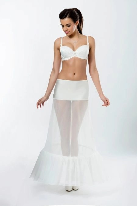 BP1-190 – Elasticated 190cm (75inch) A-line petticoat with two hoops