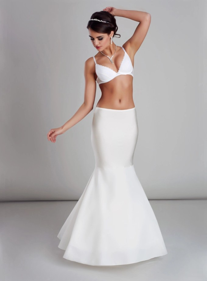 H18-190 BP18-190 Mermaid fishtail wedding bridal underskirt petticoat