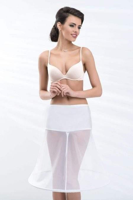 BP21-180 – Elasticated short bridal underskirt with one 180cm (72inch) hoop