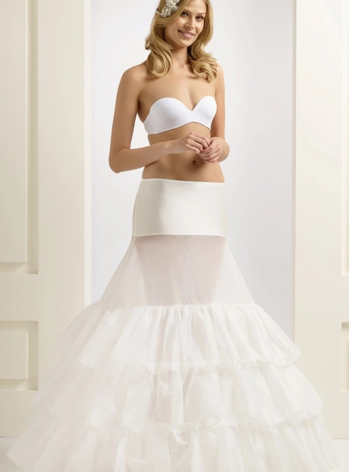 H5-370 BP5-370 extra wide full wedding bridal underskirt petticoat with ruffles (1)