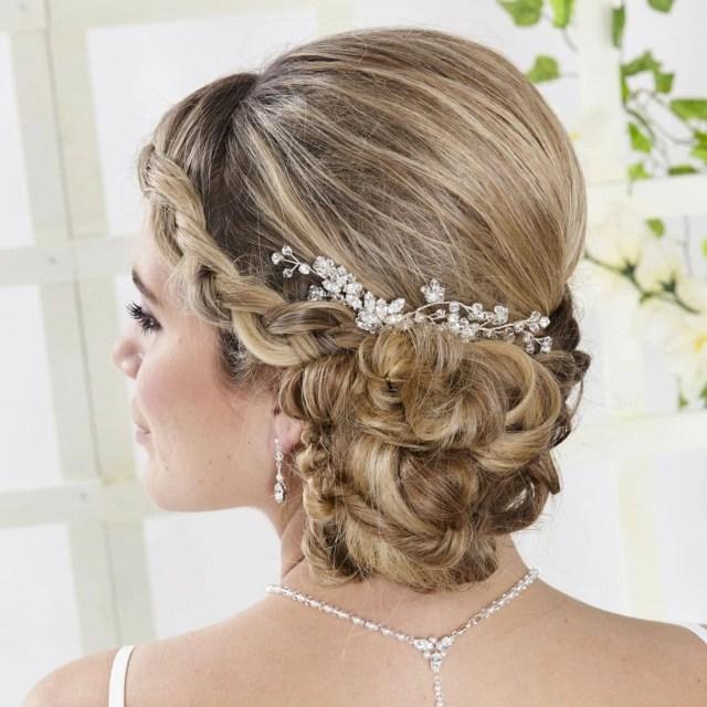 ar550 - diamante & crystal bridal hair comb
