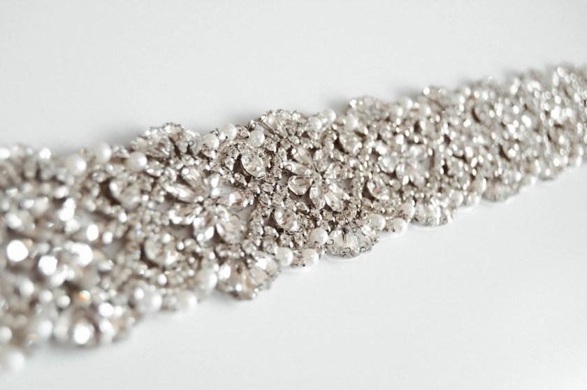 PBB1008 – wide diamante & pearl bridal belt on ribbon sash (3)